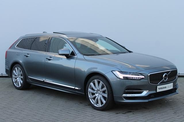 Volvo V90 T8 AWD Inscription - Luchtvering - Schuifdak - 360 Camera - Bowers & Wilkins - DAB - Head up display - Massage Functie - Intellisafe Assist - Intellisafe Surround - Getint Glas - Verw. Stoelen v/a - Verw. Stuur - Standkachel - Volvo On Call - Ke
