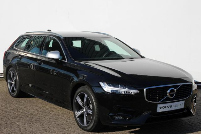 Volvo V90 T4 190pk BUSINESS SPORT R-DESIGN - AUTOMAAT - Fiscale waarde € 59.357,00 - Adaptive Cruise Control met Pilot Assist - Volvo On Call - BLIS - Lederen bekleding - Achtvoudig elektrisch bedienbare en verwarmbare voorstoelen - LED - DAB - CD-speler