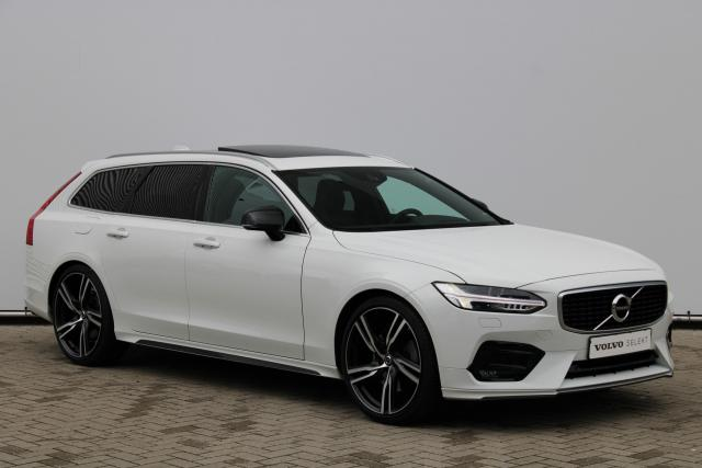 Volvo V90 T5 R-Design - Schuifdak - Standkachel - Volvo On Call - Intellisafe Assist - Intellisafe Surround - Parkeersensoren v/a - Verw. Stoelen v/a - Verw. Stuur - Schakelpaddles - 21'' LMV