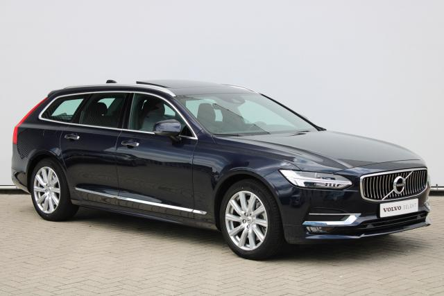 Volvo V90 T4 Inscription - Schuifdak - Standkachel - Intellisafe Assist - Intellisafe Surround - Verw. Stoelen v/a - Verw. Stuur - Achteruitrijcamera - Head up display - Parkeersensoren v/a - 18'' LMV