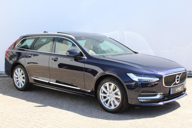 Volvo V90 T4 Inscription - Navigatie - Panorama/schuifdak - Elektrisch bedienbare voorstoelen met geheugen - Verwarmde voorstoelen - Pilot Assist - Drive Modes - Head up display - DAB+ - Volvo on Call - Elektrische achterklep - Parkeercamera - Houtinleg