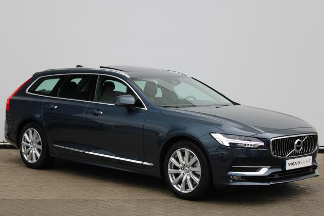 Volvo V90 T4 Business Luxury+ - Schuifdak - Standkachel - Head up display - Massage Functie - Achteruitrijcamera - Keyless - Verwarmbare Stoelen v/a - Verwarmbaar Stuur - Intellisafe Assist - Intellisafe Surround - Parkeersensoren v/a - 18'' LMV