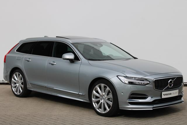 Volvo V90 T8 AWD Inscription - Luchtvering - Schuifdak - Bowers & Wilkins - DAB - 360 Camera - Head up display - Massage Functie - Getint Glas - Intellisafe Surround - Intellisafe Assist - Apple Carplay - Park Assist Pilot - 20'' LMV