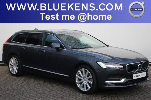 Volvo V90 T4 Inscription - IntelliSafe Assist - IntelliSafe Surround - Head up display - DAB - Parkeercamera achter - Extra getint glas - 4-zone klimaatcontrole - Standkachel - Parkeersensoren voor & achter - Semi elekt. inklapbare trekhaak - 19'' LMV