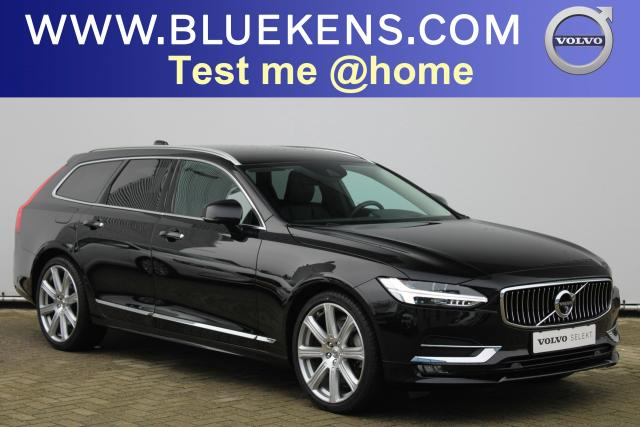 Volvo V90 T5 Inscription - Luchtvering - Bowers & Wilkins - Parkeerverwarming - 360 Camera - Intellisafe Surround - Intellisafe Assist - Head up display - Getint Glas - Verwarmbare Stoelen v/a - Verwarmbaar Stuur - Smartphone Integratie - Trekhaak - 20'' LMV