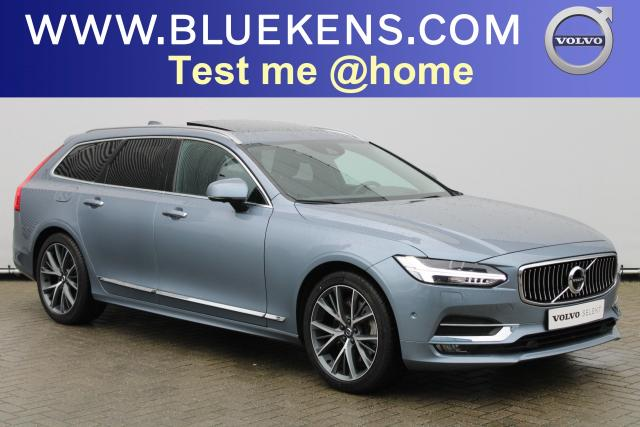 Volvo V90 T5 Inscription - Schuifdak - Parkeerverwarming - 360 Camera - Head up display - Getint Glas - Volvo On Call - Intellisafe Assist - Intellisafe Surround - Verwarmbare Stoelen v/a - Verwarmbaar Stuur - Park Assist Pilot - Smartphone Integratie - 19'' LMV