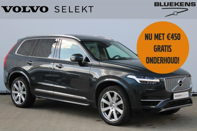 Volvo XC90 T8 Twin Engine AWD Inscription - INCL. BTW - Luchtvering - IntelliSafe Surround - Bowers & Wilkins audio - Keyless entry - kompas in binnenspiegel - Extra getint glas - Park. camera achter - 21'' LMV