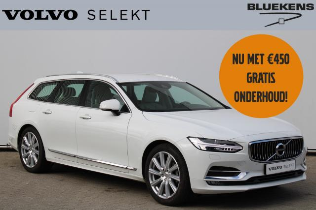 Volvo V90 T4 Inscription - Standkachel - Harman Kardon audio - Navigatie - Verwarmde voorstoelen, stuur & achterbank - Semi. elektr. inklapb. trekhaak - Apple Carplay & Android Auto - 19'' LMV