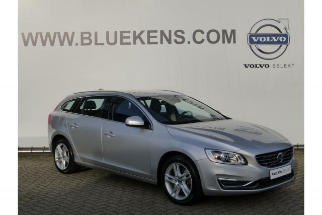 Volvo V60 D6 285pk AWD PLUG-IN HYBRID SUMMUM - 7% BIJTELLING - €29.900,- EXCL. BTW - Adapt. Cruise Control - Lane Departure Warning - Blis - Volvo On Call - Sportstoelen - Leder - Xenon